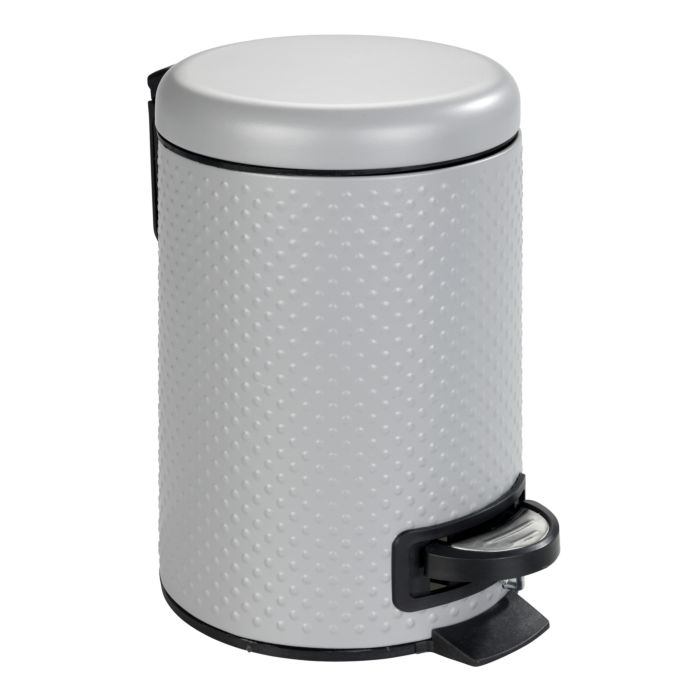 Kosmetik-Treteimer Punto Stahl grau