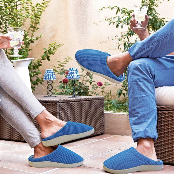 Pantoufles bien-être Stepluxe Slippers unisexe bleu