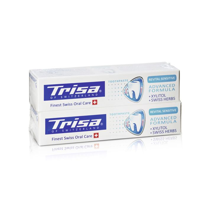 Dentifrice Trisa Revital Sensitive, Duo