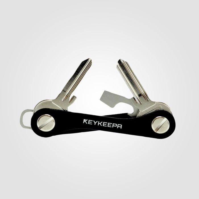 KEYKEEPA Schlüsselmanager Aluminium schwarz