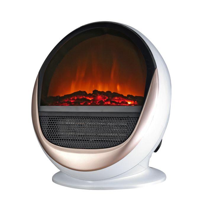 Cheminée électrique Ohmex design avec effet de flammes