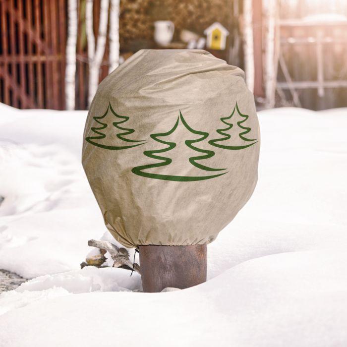 Housse de protection pour plantes avec motif de sapins