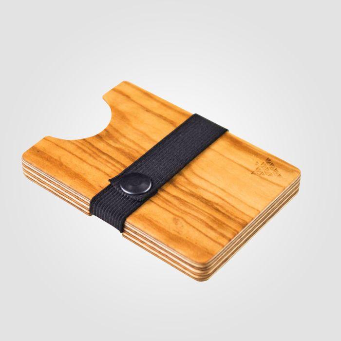 Porte-cartes en bois Bimbesbox