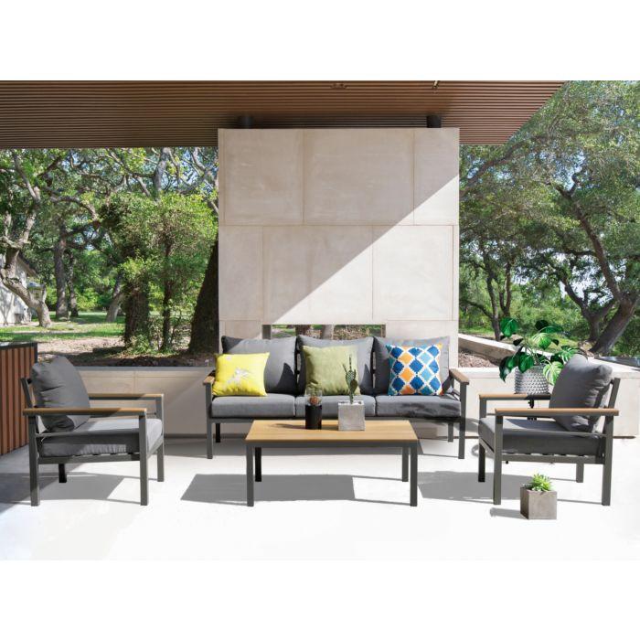 Salon de jardin Oliveira 2, 4 éléments
