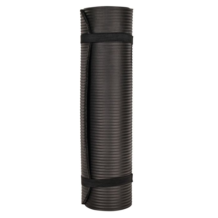 Tapis de fitness noir, 10 mm