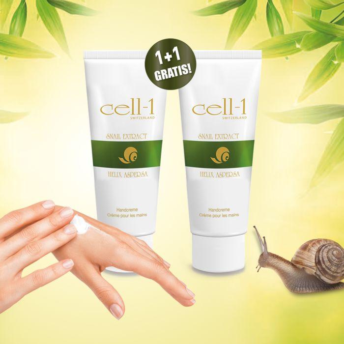 Crème Cell-1 pour les mains + 1 gratuit, 2x50 ml