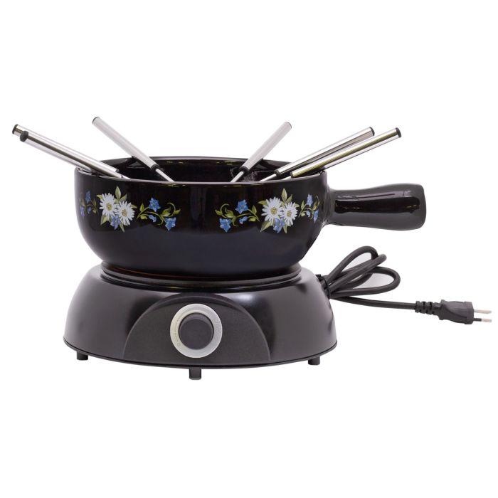 Service à fondue avec réchaud électrique, 8 éléments