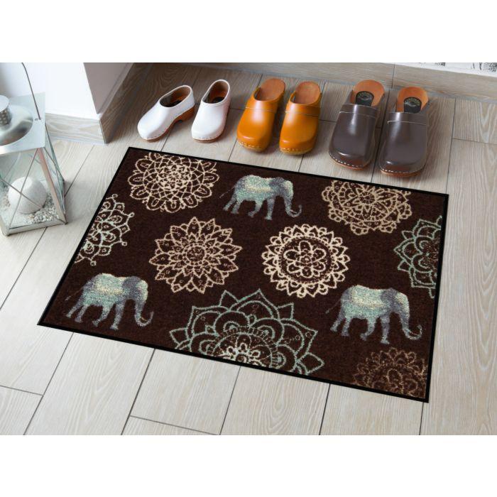 Fussmatte mit Elefanten und Mandalas