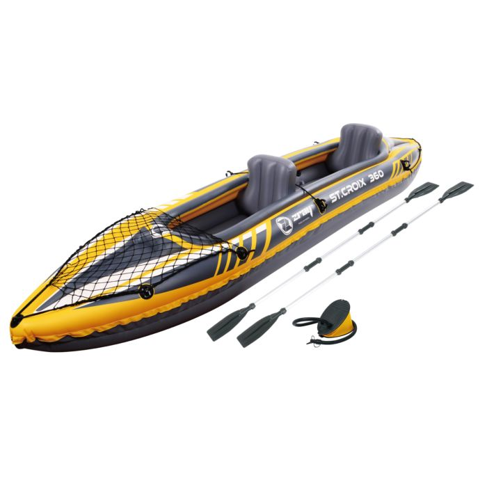 Kayak für 2 Personen inkl. Sitz, Pumpe und Paddel