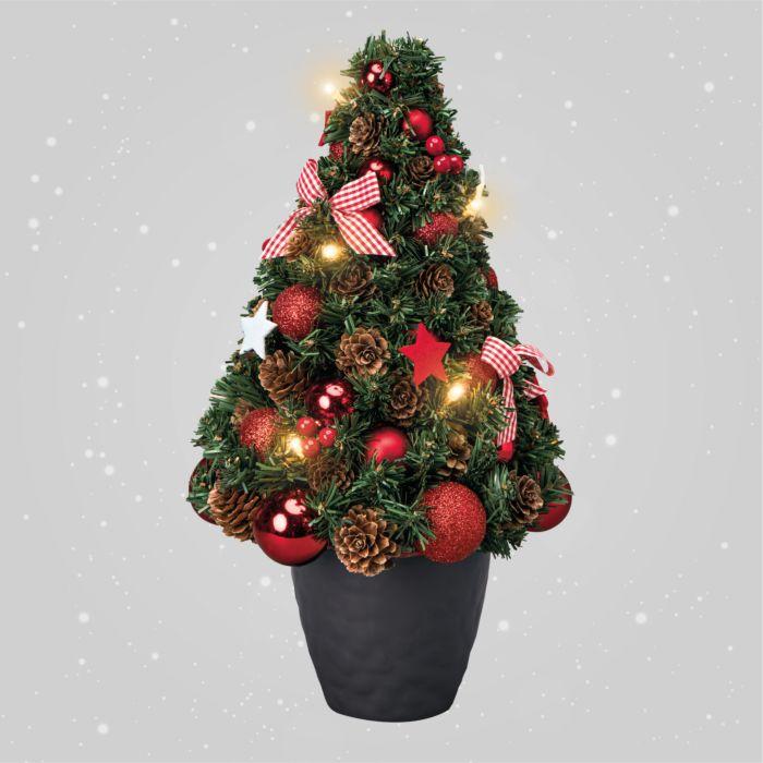 Sapin de Noël LED dans son pot