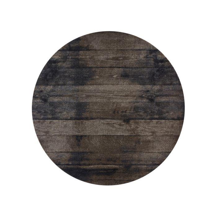 Teppich rund Wood braun Ø 100 cm