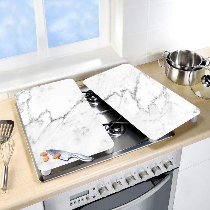 Plaques de recouvrement en verre marbre