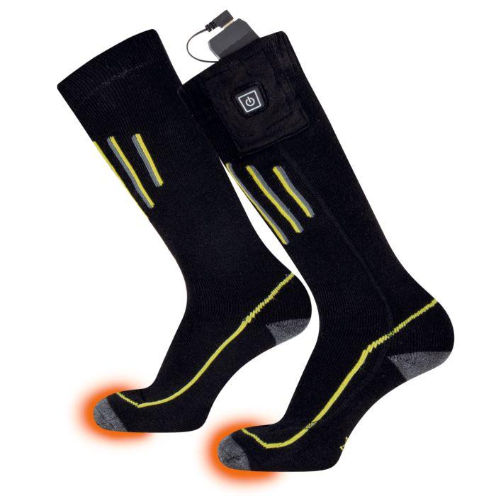 Beheizbare Socken mit Woll-Anteil