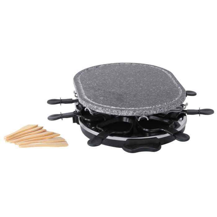 Four à raclette Ohmex ovale avec 4 plaques