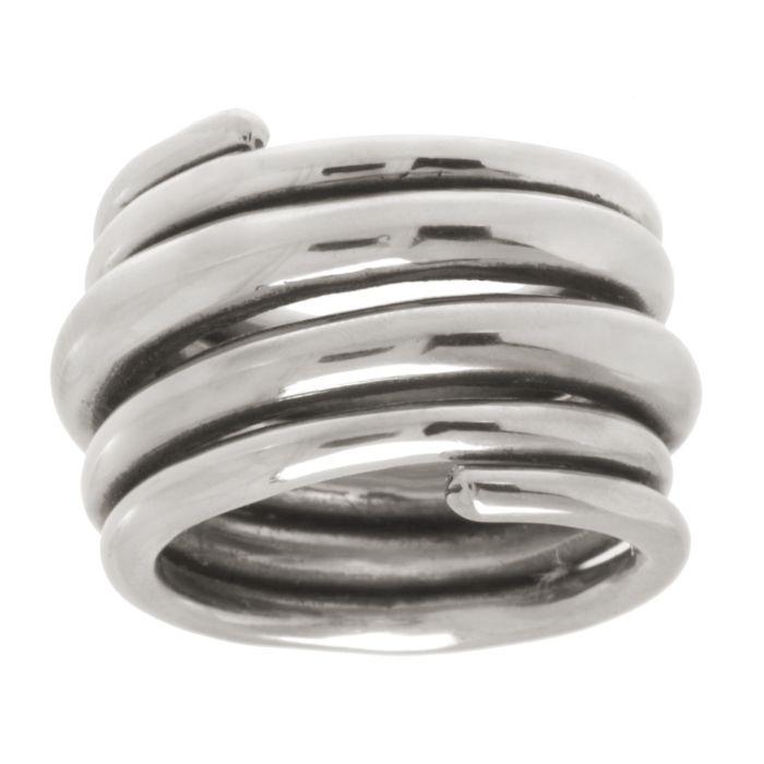 Bague en acier inox en spirales