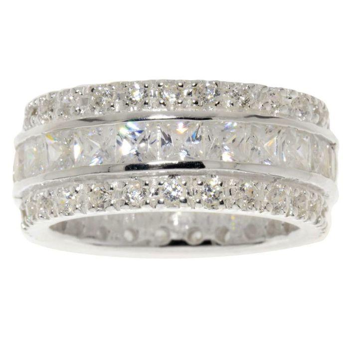 Ring 925 Silber mit vielen Zirkonia-Steinen