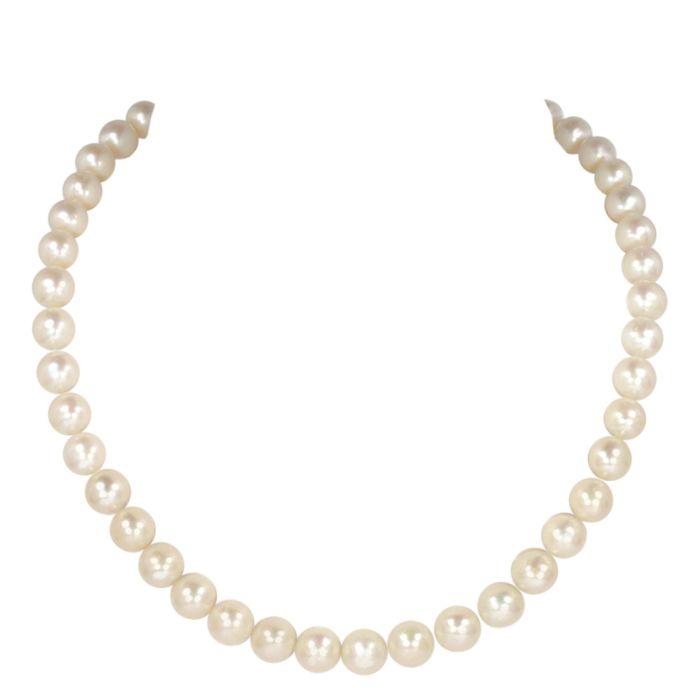 Collier de perles d'eau douce, 10,0 mm, argent 925
