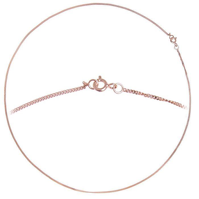 Halskette 925 Silber 1,35 mm, vergoldet roségold