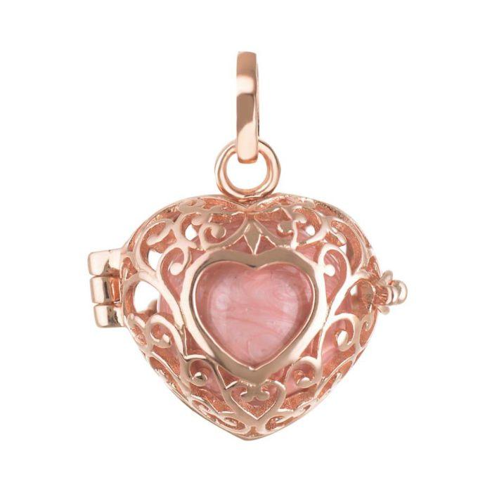 Anhänger Silber 925 mit Glöckchen, rosa-roségold vergoldet