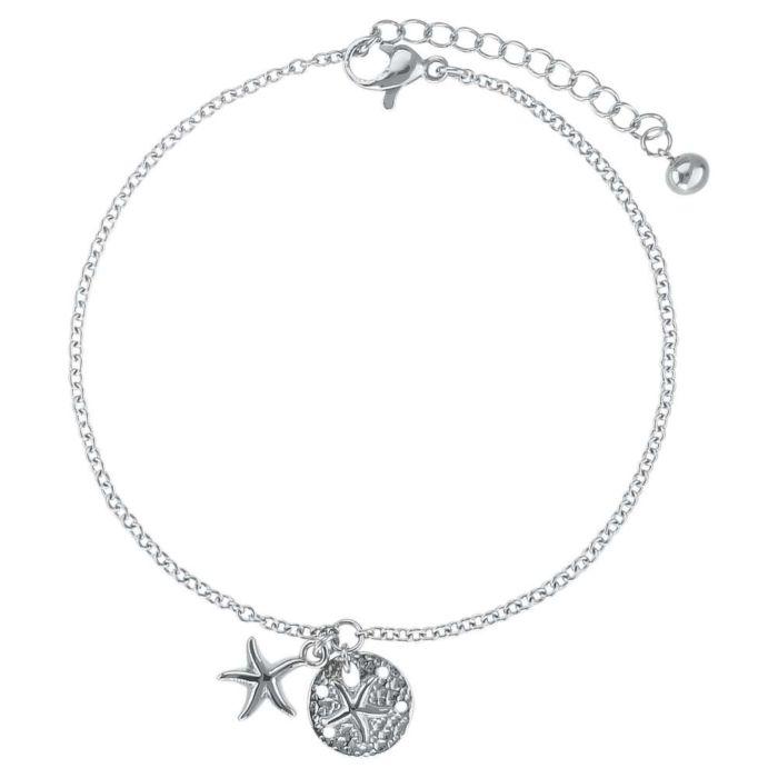 Bracelet en acier inox avec pendentif Etoile de mer