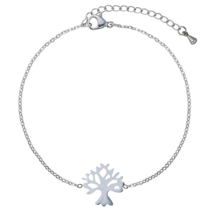 Bracelet en acier inox avec pendentif Arbre