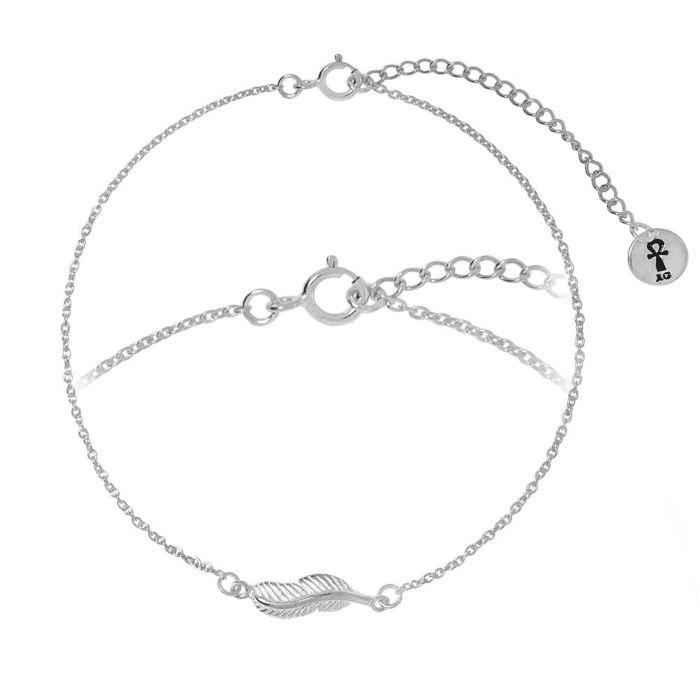 Bracelet en argent 925 Plume