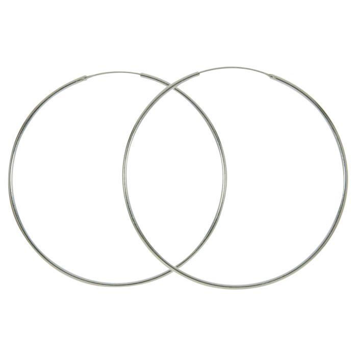 Créoles en argent 925, 1,5 mm, couleur argent