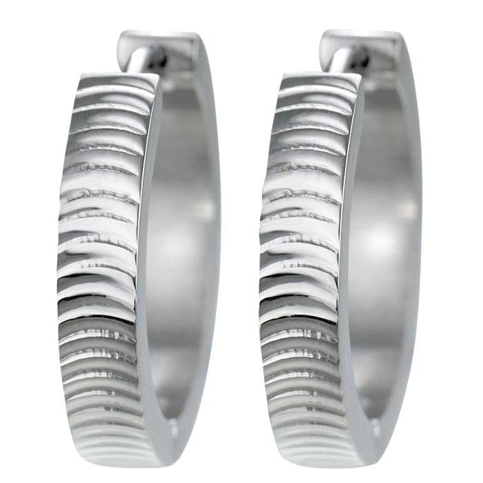 Edelstahl-Ohrringe mit Rillen