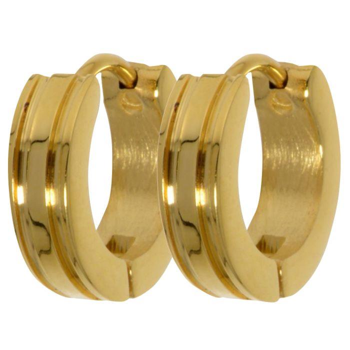 Boucles d'oreilles en acier inox, doré