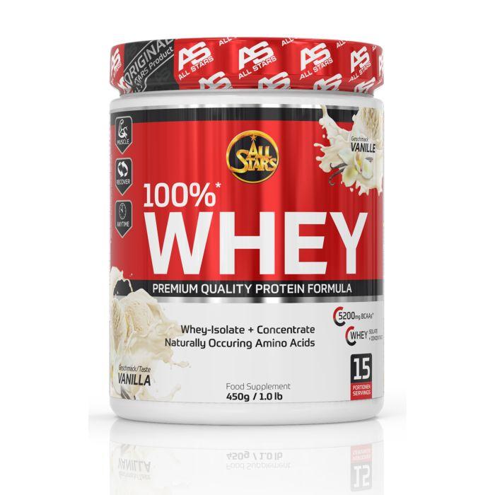 Protéines All Stars Whey 100% Premium Quality, 450 g, vanille