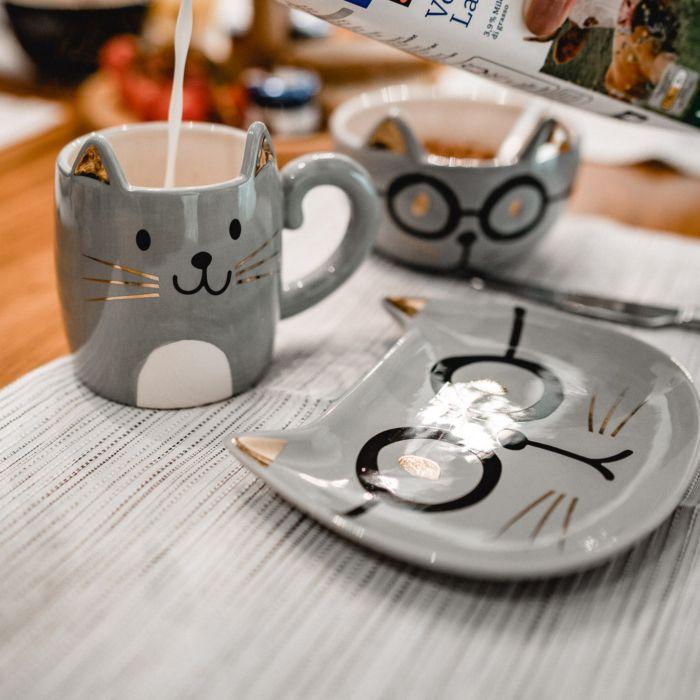Frühstück-Geschirrset «Bätmään» 3-teilig