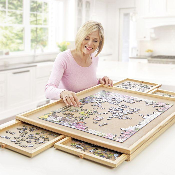 Table à puzzle Deluxe, pour jusqu'à 1500 pièces