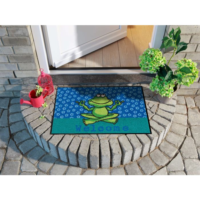 Türvorlage Yoga Frosch 50x75 cm