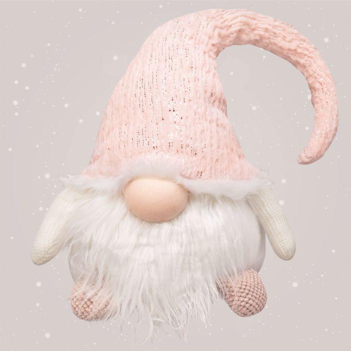 Wichtel mit rosa Mütze aus LangfadenDekostoff