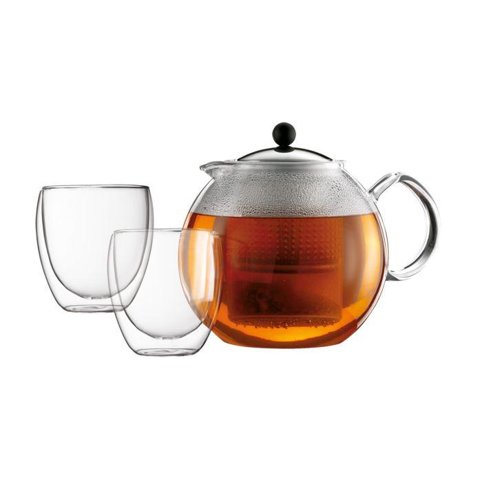 Bodum Teebereiter 1.5 l und 2 Gläser 0.25 l