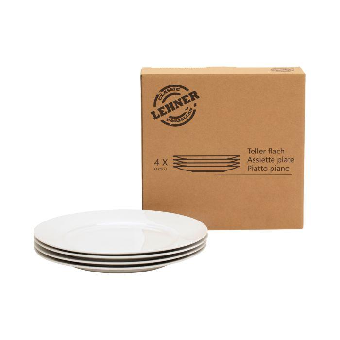 4er-Set Classic-Teller flach 27 cm
