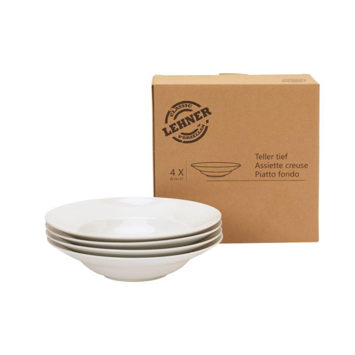 4er-Set Classic-Pastateller 27 cm