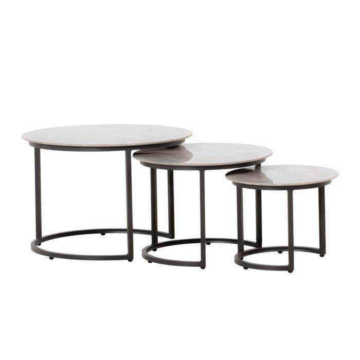 Tables gigognes Venezia, 3 pièces