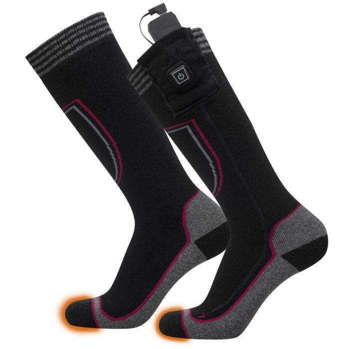 Chaussettes chauffantes avec accus Li-ion, 2x 5 V