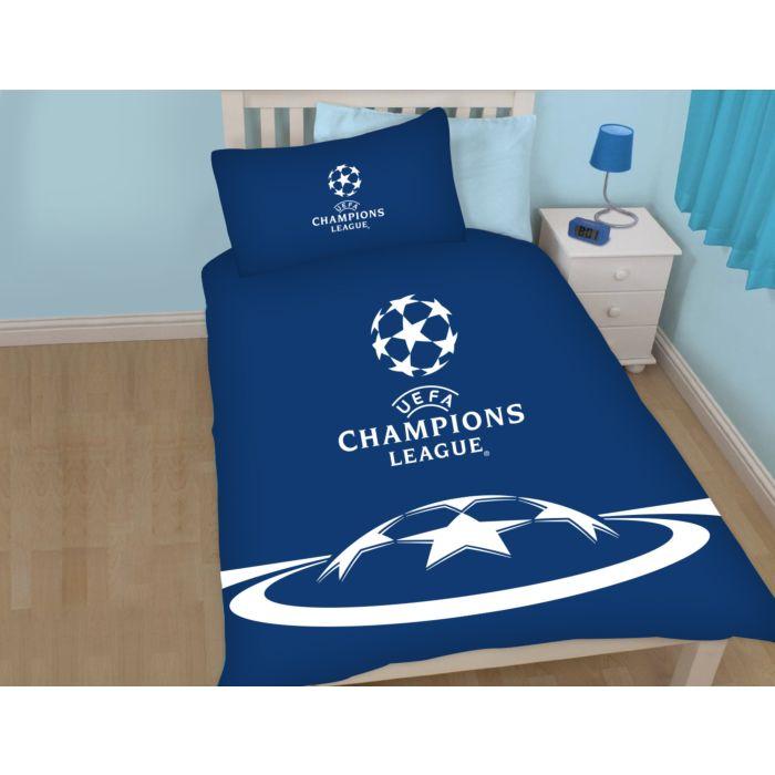 Champions League Bettwäsche blau-weiss