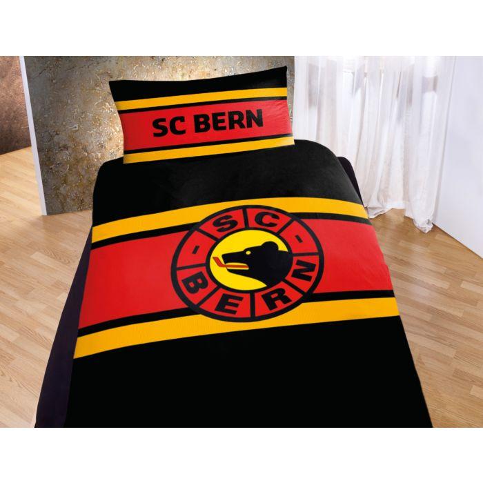Parure de lit SC BERN avec logo et rayures