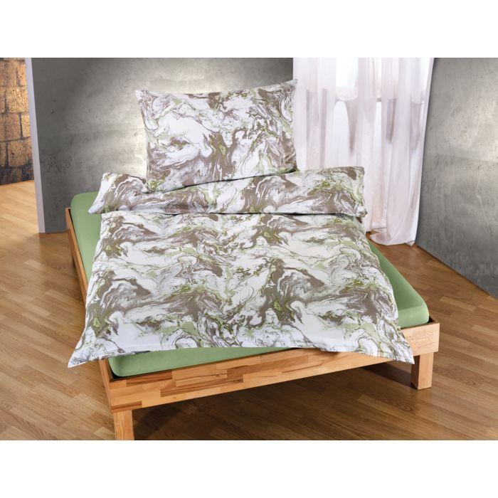Bettwäsche mit marmoriertem Muster
