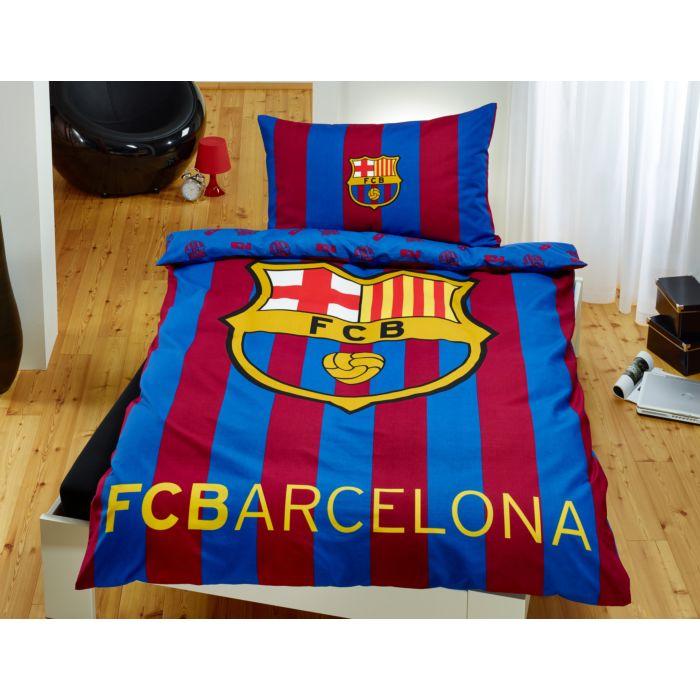 Parure de lit FC Barcelone à rayures