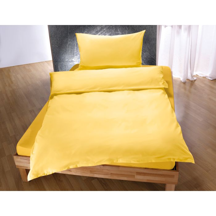 Baumwoll-Bettwäsche einfarbig