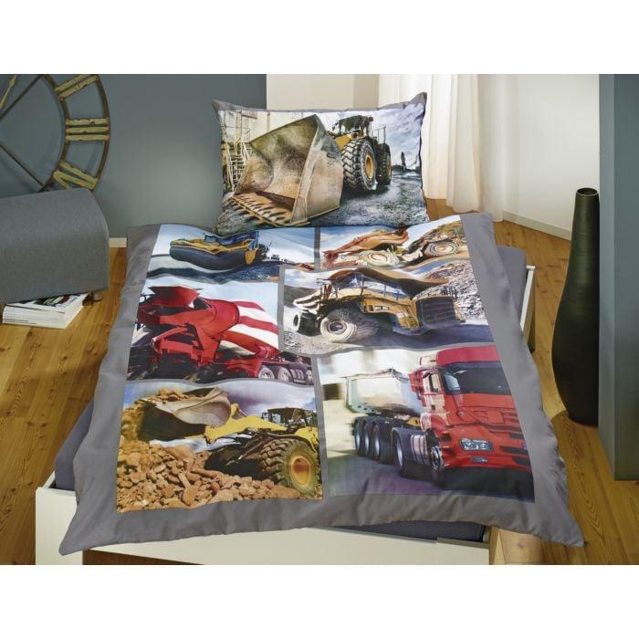 Bettwäsche mit Baustellen-Motiv