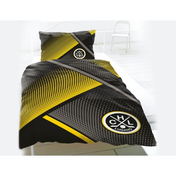 HC LUGANO Bettwäsche schwarz-gelb