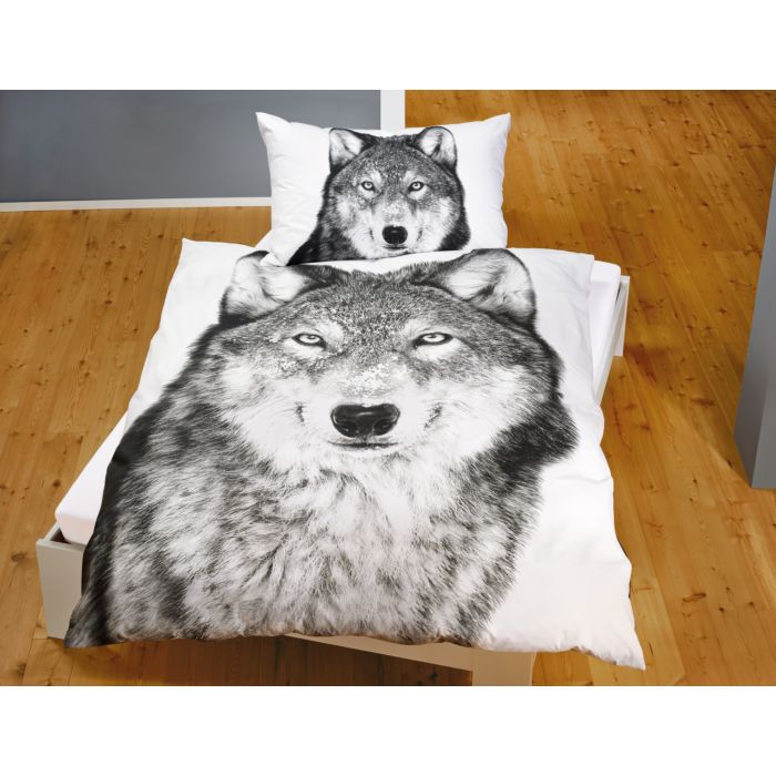 Parure de lit avec loup majestueux