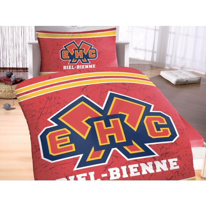 Linge de lit EHC BIEL-BIENNE avec grand logo