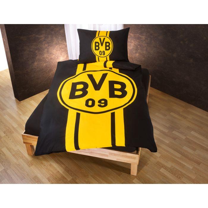 Bvb Borussia Dortmund Bettwäsche Mit Grossem Logo Günstig Lehner