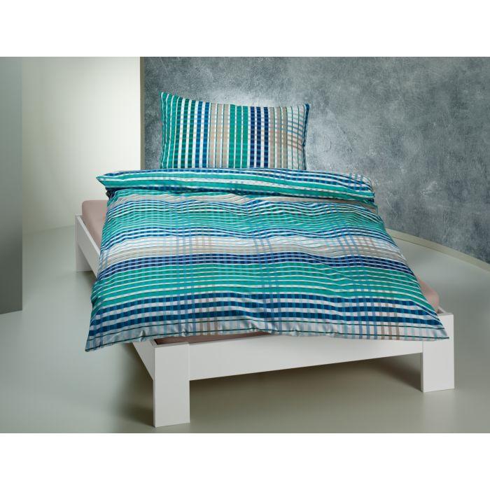 Linge de lit à rayures mélangées colorées